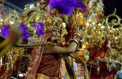 Die Samba-Schulen bereiten sich das ganze Jahr über auf den Carneval vor. (Bild: Keystone)