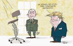 Ein neuer Stabschef fürs Weisse Haus. Ein Kommen und Gehen im Team von US-Präsident Donald Trump. (ZaS vom 6. August 2017) (Bild: Tom)