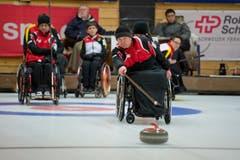 Das Schweizer Team mit Skip Felix Wagner. (Bild: Dominik Wunderli (Neue LZ))