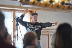 Casting zum Winnetour Freilichtspiel im Restaurant Wasserfall in Engelberg. Auf dem Bild zu sehen ist Tom Völkers, Produktionsverantwortlicher. (Bild: Pius Amrein (LZ))