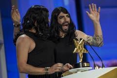 In der Sparte Kabarett/Comedy gewann das Duo Divertimento - zum dritten Mal nach 2006 und 2010. (Bild: Keystone)