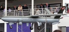 Eine Watchkeeper-Drohne von Thales. (Bild: Remy de la Mauviniere)