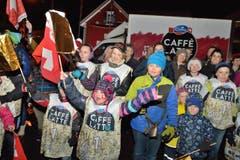 Ski- und Wendy-begeisterte Kinder jubeln. (Bild: Nadia Schärli/LZ)