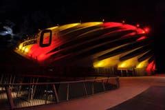 … das Nagyardei Stadium in Debrecen, … (Bild: Balazs Mohai/MTI via A)