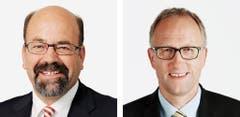 ZUG - Joachim Eder (bisher), FDP, links und Peter Hegglin (neu), CVP (Bild: Keystone / Handout)
