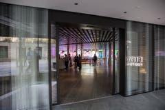 Der Eingang zum Fifa-Museum (Bild: Keystone / Patrick B. Krämer)