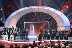 Die Swiss Award Galashow fandt im Zürcher Hallenstadion statt. (Bild: Keystone / Walter Bieri)