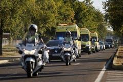 Auf dem Weg ins Madrider Spital. (Bild: Keystone)