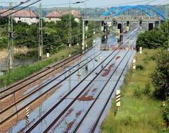 Ein Bahntrasse zwischen Magdeburg and Leipzig. (Bild: Keystone)