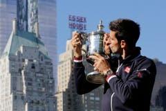 Platz 7: US Open. Auf dem Bild: Novak Djokovic, Gewinner des Tennis-Turniers 2015. (Bild: EPA / Mark Lennihan)