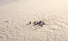 Downtown Dallas versinkt im Nebelmeer. (Bild: Keystone)
