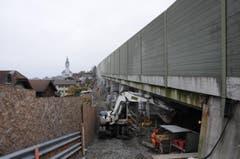 Das Viadukt Blauhaus in Buochs wird verstärkt und saniert. (Bild: Philipp Unterschütz / Neue NZ)