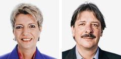ST. GALLEN - Karin Keller-Sutter (bisher), FDP und Paul Rechsteiner (bisher), SP (Bild: Keystone / Handout)