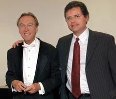 Der Maestro und der Gastgeber: Italiens Stardirigent Claudio Abbado, links, mit dem Intendanten des Lucerne Festivals Michael Häfliger. (Bild: Archiv / Neue LZ)