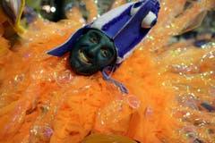 Ein Tänzer der «Grande Rio Samba School». (Bild: Keystone)