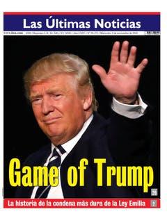 "Die chilenische Zeitung ""Las Ultimas Noticias"". (Bild: Printscreen)"