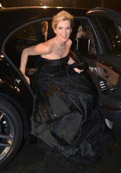 Die deutsche Schauspielerin Maria Furtwängler bei ihrer Ankunft auf dem Roten Teppich. (Bild: Keystone)