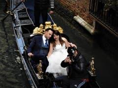 """""""Komm in die Gondel mein Liebchen steig ein"""". Buona Fortuna per tutta la vita! Aufgenommen in Venedig. (Bild: Margrith Imhof-Röthlin)"""