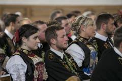 Impressionen von der Erntedankandacht in der Kirche Buochs. (Bild: André A. Niederberger)