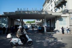 Der Schauplatz der Verhaftungen... (Bild: Ennio Leanza / Keystone via AP)