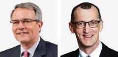 GLARUS - Thomas Hefti, (bisher), FDP, links und Werner Hoesli (bisher), SVP. (Bild: Keystone / Handout)