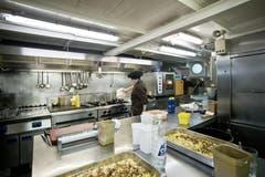 Die Bordküche des Dampfschiffs Uri. (Bild: Pius Amrein / Neue LZ)