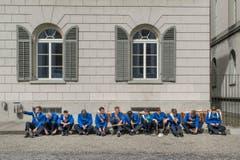 Tambouren warten auf ihren Auftritt in St. Gallen. (Bild Benjamin Manser) (Bild: Benjamin Manser (Benjamin Manser))