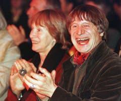 Die grosse Liebe: Dimitri und seine Frau Gunda 1998 in Wohlen. (Bild: CHRISTOPH RUCKSTUHL (KEYSTONE))