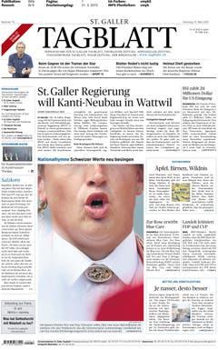 Der freche Bildschnitt eines Jodlers auf dieser Tagblatt-Frontseite wurde prämiert. (Bild: pd)