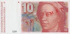 Ende der 1960er-Jahre überdachte die SNB ihre Politik betreffend Gestaltung und Herstellung der Noten vollständig neu. (Porträt: Mathematiker Leonhard Euler). (Bild: Archiv der SNB)