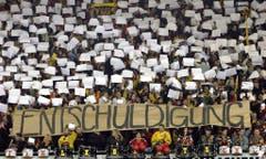 Und auch die Fans des SC Bern zeigten sich einsichtig. (Bild: Keystone)