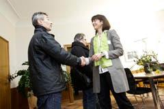Zu Besuch im Büro von Regierungsrätin Monika Knill . (Bild: Donato Caspari)