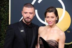 Justin Timberlake besuchte den Event mit seiner Frau Jessica Biel. (Bild: Keystone)