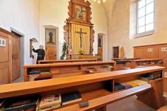 Lichterlöschen in der Klosterkapelle. (Bild: Hanspeter Schiess)