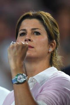 Mirka Federer während des Spiels. (Bild: Keystone)