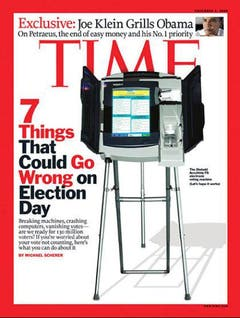 Die Time von November 2008 wirft seltsame Schatten. (Bild: Time)
