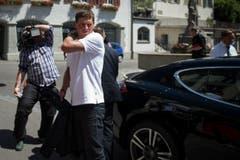 Jan Ullrich auf dem Weg in den Gerichtssaal. (Bild: Benjamin Manser)