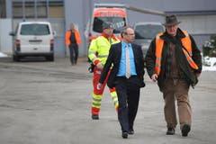 Polizeikommandant Beat Hensler (links) und Daniel Bussmann, Chef der Kriminalpolizei Luzern. (Bild: Boris Bürgisser / Neue LZ)