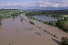 Überflutung im Thurgebiet 1999. (Bild: Archiv)