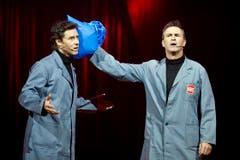 René Rindlisbacher (r.) und Sven Furrer von «Edelmais» sind die diesjährigen Gaststars. (Bild: Keystone)