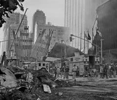 Später stürzten die Twin Towers ein. (Bild: Keystone)