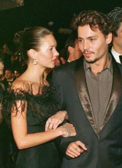 Die erste grosse Liebe: Mit Schauspieler Johnny Depp war Kate Moss von 1994 bis 1998 zusammen. (Bild: Keystone)