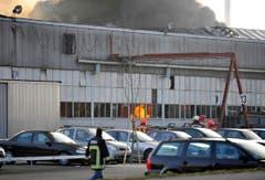 Grossbrand bei der Firma Tuchschmid in Frauenfeld. (Bild: Reto Martin)