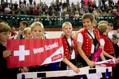 Ganz in Rotweiss: Schweizer Fans. (Bild: Urs Bucher)