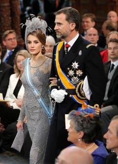Der spanische Kronprinz Felipe mit seiner Gattin Letizia. (Bild: Keystone)