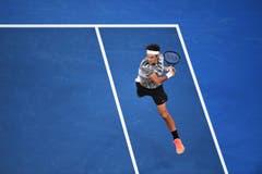 Roger Federer in action. (Bild: Keystone)