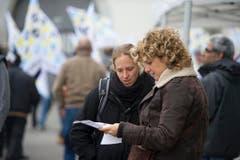 Die drohende Schliessung des Swissprinters-Standortes St.Gallen beunruhigt zahlreiche Menschen. (Bild: Michel Canonica)