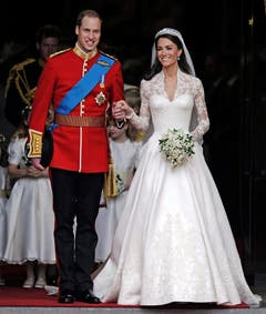 Am 29. April 2011 gaben sich Herzogin Kate und Prinz William das Ja-Wort. (Bild: Keystone)