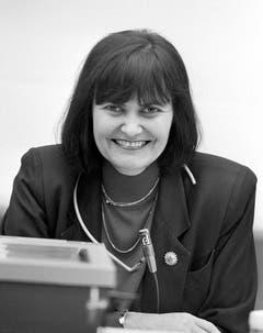 Die Genferin Micheline Calmy-Rey im November 1993. (Bild: Keystone)
