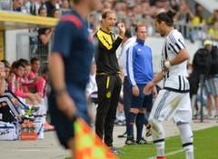 BVB-Coach Thomas Tuchel gibt Anweisungen. (Bild: Ralph Ribi)